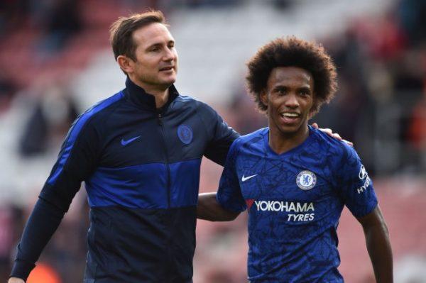 Chelsea : Willian trouve bizarre d'être entraîné par Frank Lampard
