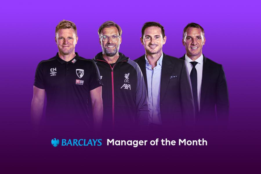 Officiel : les nommés pour le trophée d'entraîneur du mois en Premier League