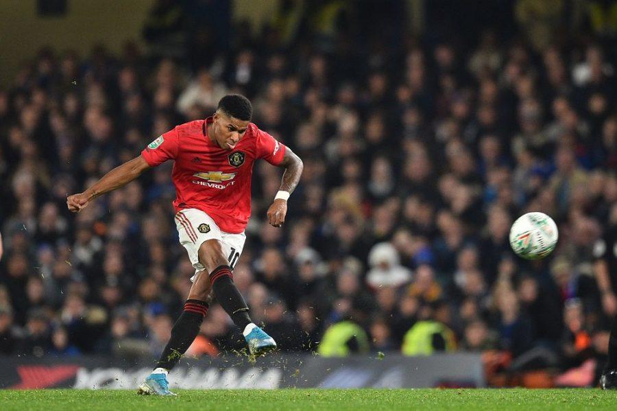 Man United : la réaction de Marcus Rashford après son coup-franc Juninhesque