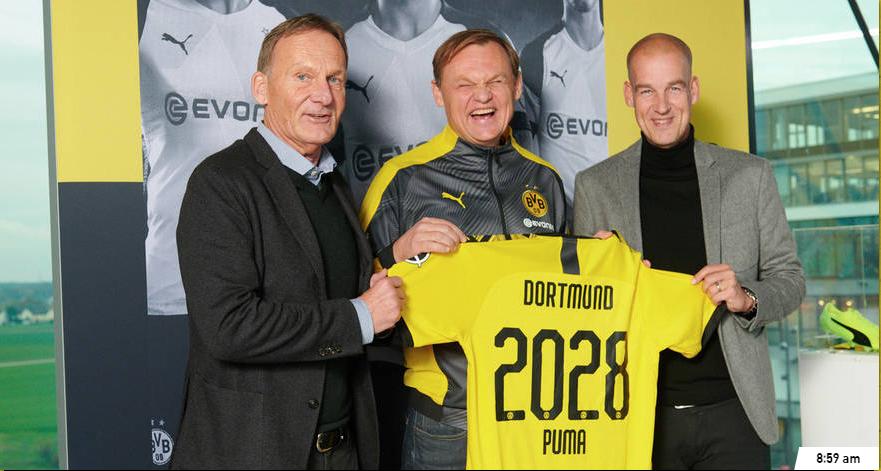 Le BvB Dortmund signe un nouveau contrat avec Puma