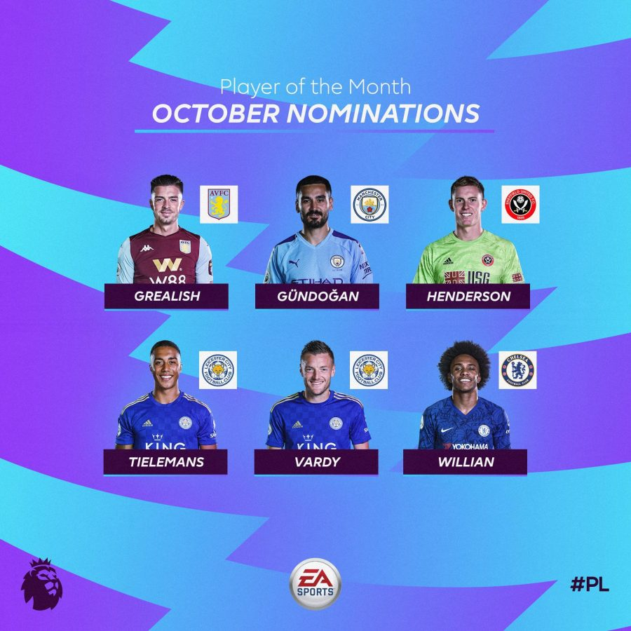 Officiel : les nommés pour le titre de joueur du mois d'octobre en PL