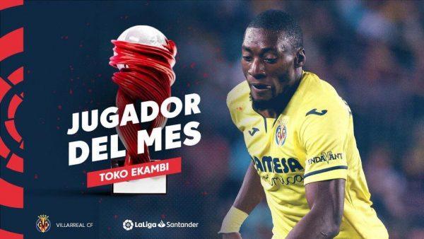 Officiel : Karl Toko Ekambi élu joueur du mois en Liga