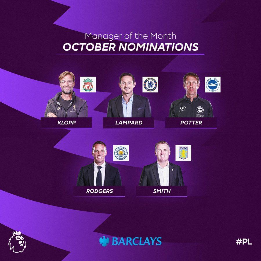 Officiel : les nominés pour le titre de coach du mois d'octobre en PL