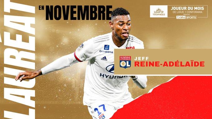 Ligue 1 : Jeff Reine-Adelaïde élu joueur du mois de novembre
