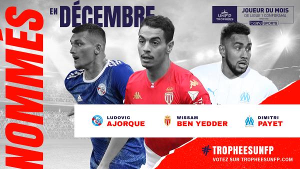 Ligue 1 : les joueurs du mois de décembre sont connus