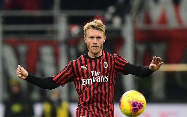 Le Milan AC est satisfait de Simon Kjaer
