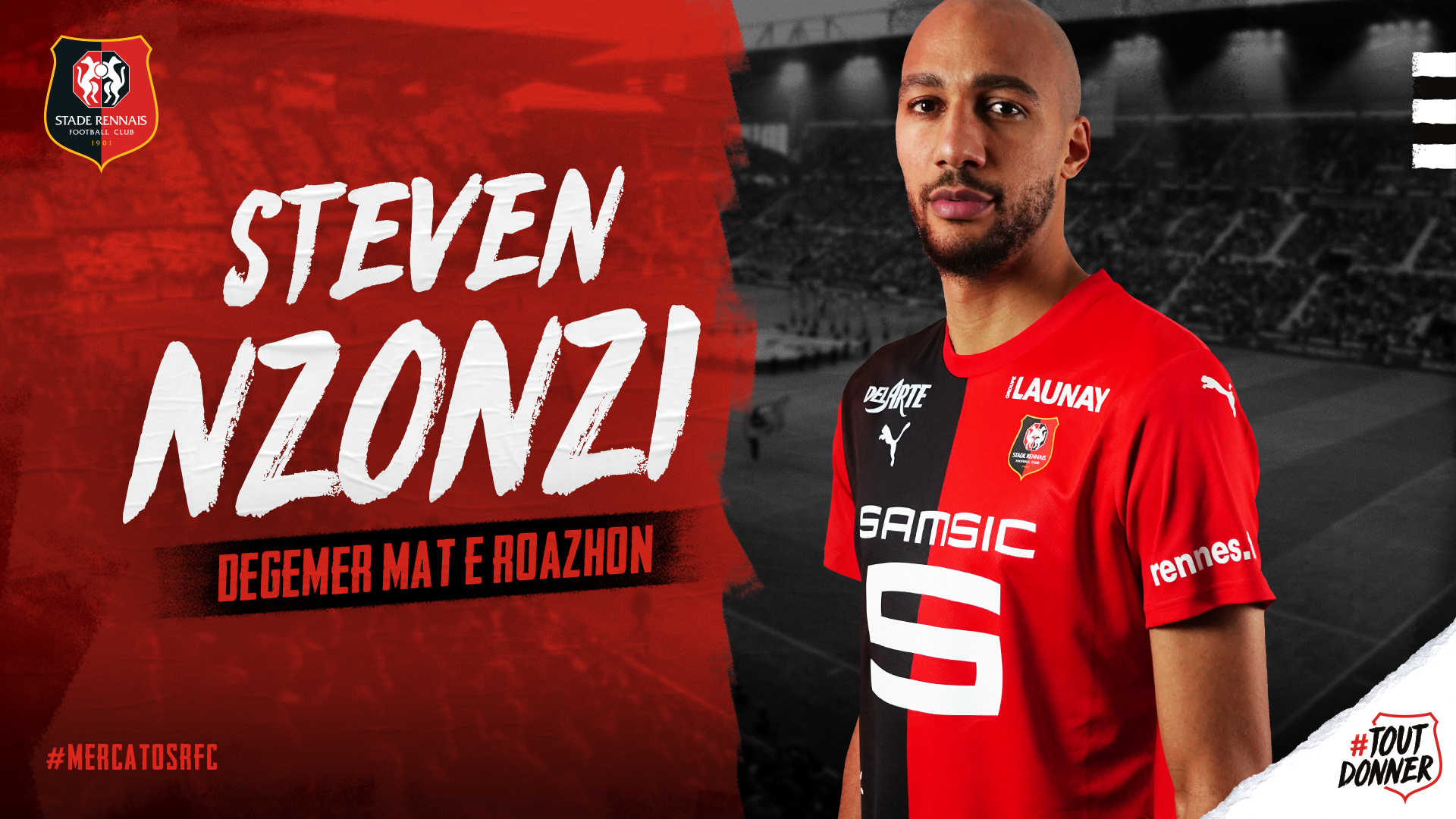 STEVEN NZONZI # FRANCE STADE RENNAIS UPDATE TRANSFERT STICKER PANINI FOOT 2020