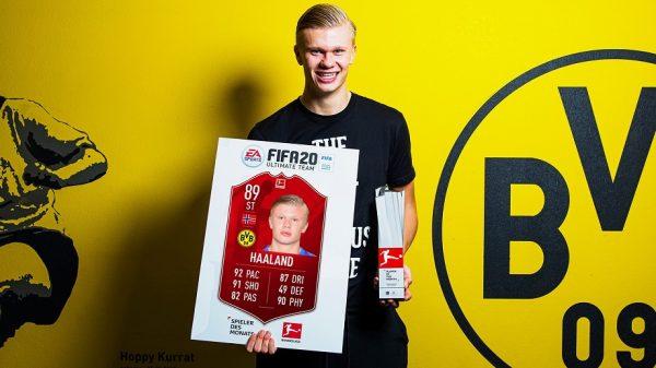 Bundesliga : Erling Haaland élu joueur du mois de janvier