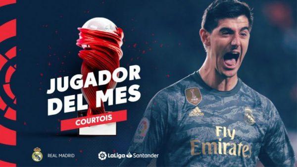 La Liga : Thibaut Courtois nommé meilleur joueur du mois de janvier de Liga !