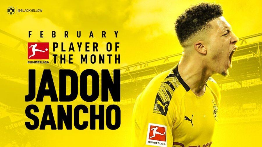 Bundesliga : Jadon Sancho élu joueur du mois de février