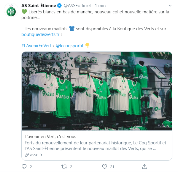 Les maillots 2020/2021 de Ligue 1 et d'Europe