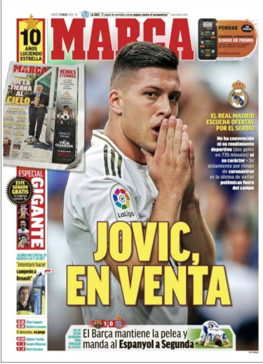 Real Madrid : le cas Luka Jovic fait de nouveau parler !
