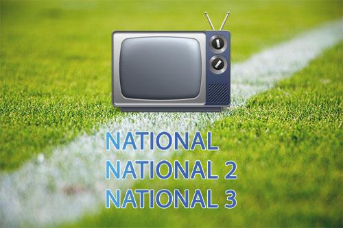 Live streaming et matchs en direct du National 1, National 2 et 3, les résumés en vidéos