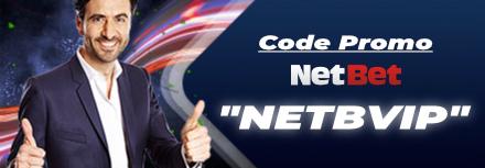 Code Promo Netbet 2021 : «NETBVIP» 150€ de bonus + 5€ de freebets