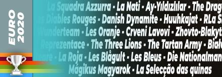 Les surnoms des équipes de football à l'Euro 2020