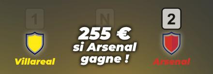 Pronostic Villarreal – Arsenal – 255€ à gagner le 29 Avril 2021, nos conseils