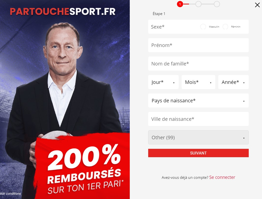 Code promo Partouche Sport