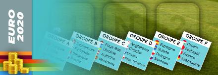 Parier sur les groupes de l'Euro 2020-2021 : bookmakers et conseils