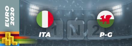 Pronostic Italie – Pays de Galles Euro 2021 : Cotes et analyses
