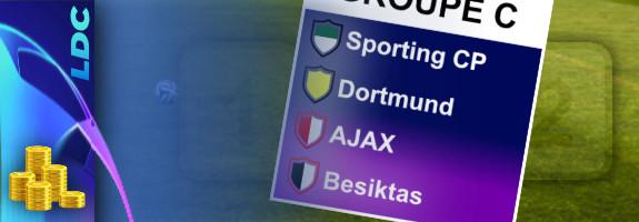 Pronostic Groupe C – Ligue des Champions – cotes, paris et conseils