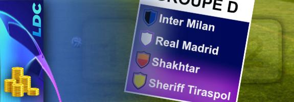 Pronostic Groupe D – Ligue des Champions – cotes, paris et conseils
