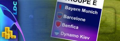 Pronostic Groupe E – Ligue des Champions – cotes, paris et conseils
