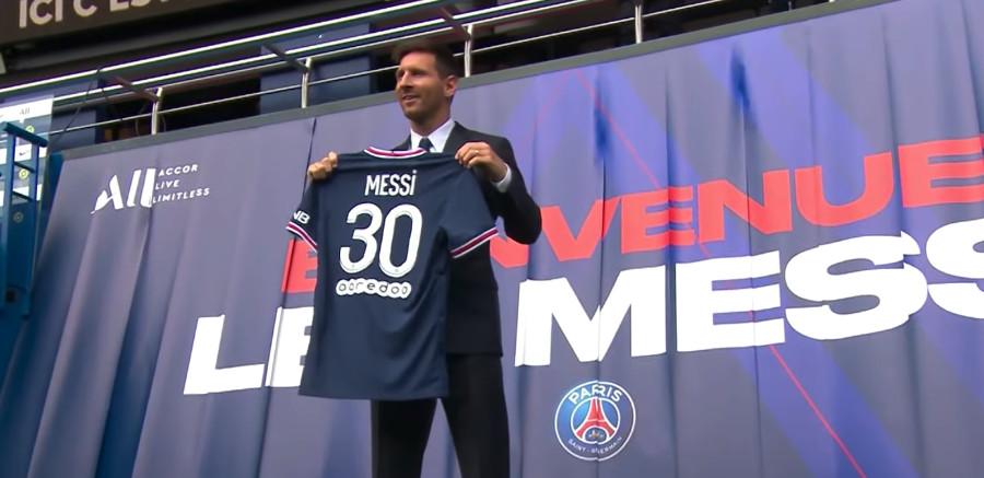Présentation de Leo Messi en direct du Parc des Princes