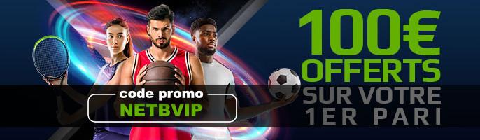 Code Promo Netbet 2021 : «NETBVIP» 100€ de bonus