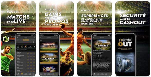 Application Barrière sport mobile