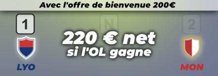 Pronostic Lyon (OL) – Monaco, cotes et conseils pour parier – 16/10/21